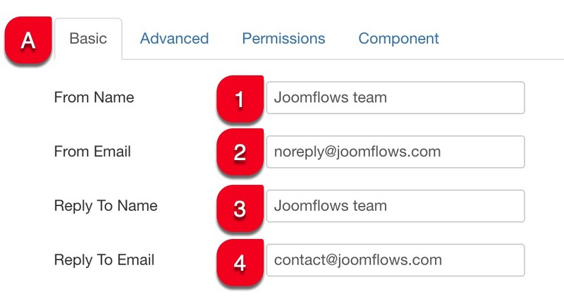 basic configuration joomflows tab