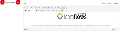 print mode text joomflows