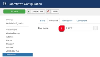 advanced tab configuration joomla